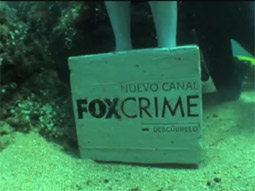 Fox Crime TV channel sunk a fake dead body at the bottom of the ocean at a popular scuba diving spot in Spain.