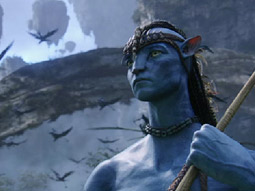 WHY SO BLUE? The December launch of 'Avatar' in 3-D will only be available for Panasonic 3-D TV owners for a set amount of time.