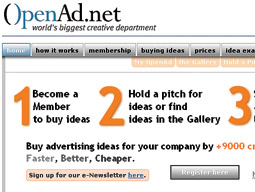 OpenAd.net is an online marketplace where advertisers and agencies have access to a global pool of creatives.