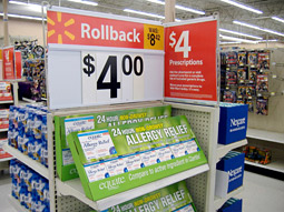 Healthy gain: Over-the-counter drugs and health-care products, such as Walmart's Equate, were one of the fastest-growing segments for private label in 2008, according to Information Resources Inc.