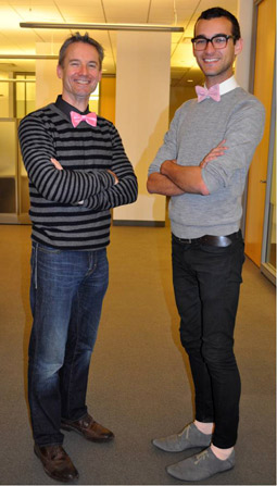 As part of ID Media's annual cancer awareness activities, staffers—from CFO Thor Peterson to intern Justin Barton—all dress in pink for one day.