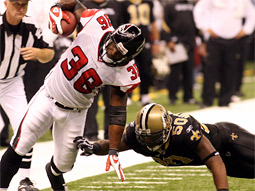 The Saints and Falcons game on ESPN's 'Monday Night Football' was second only to the World Series.