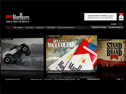 Unlike Bud.TV, Marlboro's site, full of recipes and cowboy videos, is thriving.