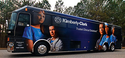 K-C launched a 'Not on My Watch' tour that features a mobile classroom.