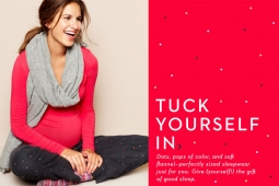 Gap is promoting is promoting sleepwear as the perfect gift to give yourself.