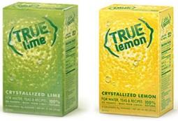 TrueCitrus is available in lime, orange, lemon, lemon-raspberry and grapefruit.