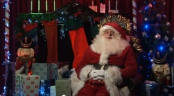 Santa broadcasts on YouTube from the North Pole.
