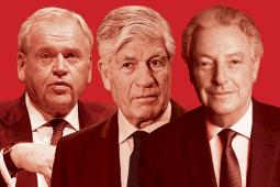 Omnicom Group President-CEO John Wren, Publicis Groupe Chairman-CEO Maurice Levy and Interpublic Chairman-CEO Michael Roth