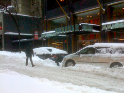 The New York Times' coverage of the blizzard included citizens calling the city out for perceived favoritism in its snow plowing and its lengthy closure and slow reopening of all area airports.