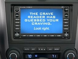 Players read questions on an image of the CR-V navigation screen.