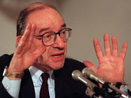 Blast from the past: In 1996, Alan Greenspan issued his famous 'irrational exuberance' warning.