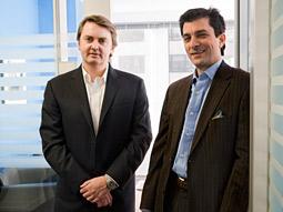 Initiative Worldwide CEO Richard Beaven and U.S. President Tim Spengler in their Manhattan offices.