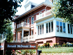 Ronald McDonald House Charities provides housing and care for sick children.