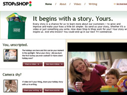 Stop and share: Stop & Shop used an internet TV microsite to solicit customer video submissions.