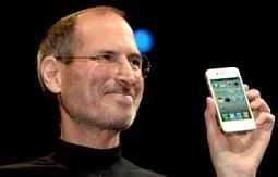 Steve Jobs presents the iPhone.