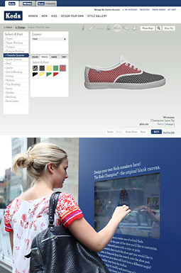 GETTING INTERACTIVE: Efforts such as Keds' website relaunch held consumers' attention.