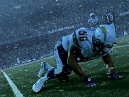 Nike Football's 'Leave Nothing' ad features Chargers linebacker Shawne Merriman and Rams running back Steven Jackson in director Michael Mann's homage to his 'Last of the Mohicans.'