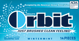 Clean and simple: Orbit is a top brand thanks to consistent messaging.