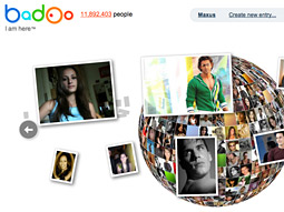 Badoo puts paid users at the top of a rolling list of profiles.