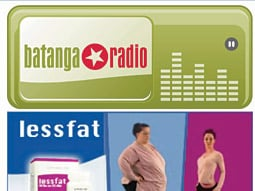 Ads incorporate site: Ad shows the 'after' photo of this thinner user dancing to Batanga radio.