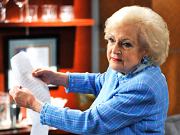 The White stuff: Betty's character wants to sue the TV networks.