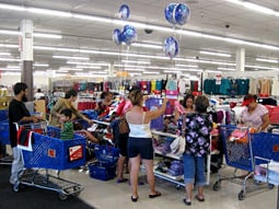 BARGAIN HUNTERS: Chain attracts consumers with promotional deals.