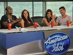 Kara DioGuardi (second from left) joins the American Idol judges this season.