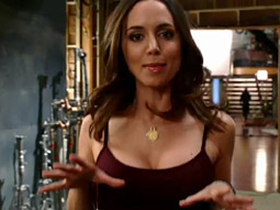 'BECAUSE WE'RE ALIENS': Eliza Dushku, from Fox's 'Dollhouse,' in one of Hulu's TV ads.