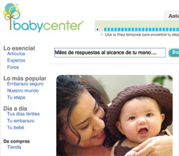 The BabyCenter website draw more than 4 million monthly unique visitors.
