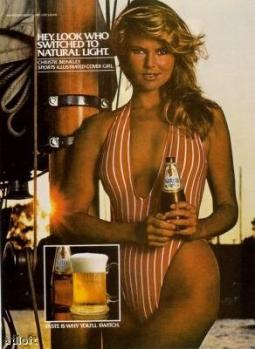 The 1981 Natural Light campaign starring Christie Brinkley.