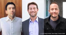 L to R: Serge Patzak, Ross Siegel, Andre Geller