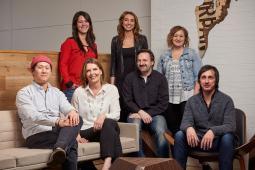 From L, standing: Morgan Richter, Jaime Flynn, Jen Stopka. From L, seated: Alan Kwon, Julia DeVos, Jon Clarke, Salvatore Russomanno
