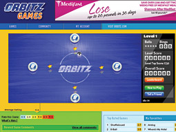 Traffic driver: Playable banner games give Orbitz a personality.