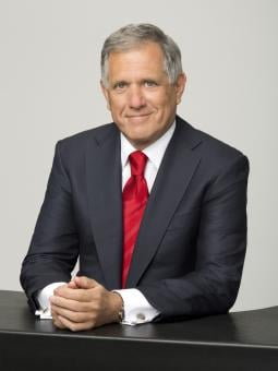 CBS Corp. Chairman-CEO Les Moonves said he doesn't like sharing Thursday night football with NBC, but prefers the package CBS got.