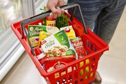 A grocery basket of ConAgra brands.