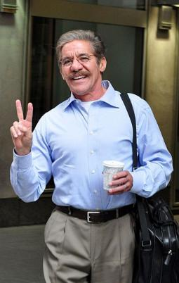 Geraldo Rivera sighted outside News Corp on April 22, 2011 at 6th Ave & 47th Street in New York City.