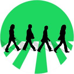 Spotify's custom Beatles emoji.