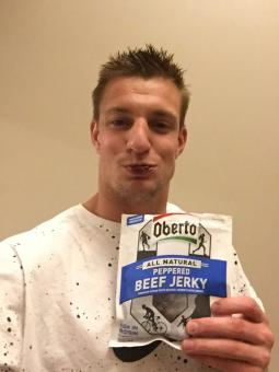 Rob Gronkowski for Oberto Beef Jerky.