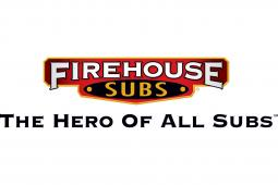 The Firehouse Subs logo and tagline.