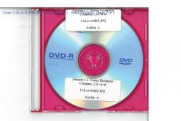The DVD from Erin Johnson's suit, in a photocopy from a court filing.