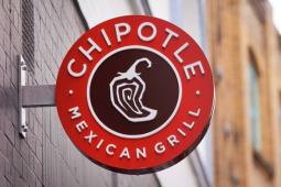 A Chipotle Restaurant Sign.