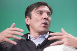 AOL CEO Tim Armstrong speaks at an event in 2014.