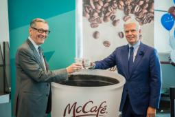 Canadian Airline WestJet announced Nov. 21 that it will offer McCafé Premium Roast coffee on board its flights.