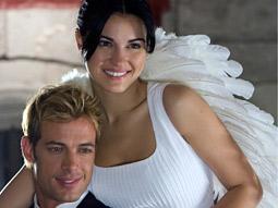 Winging it: A scene from telenovela 'Cuidado con el Angel.'