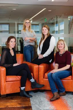 (From L): Kristin Wellmer, Katie Davis, Hannah Heller and Cheryl Davis