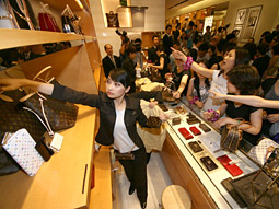 Universal obsession: Remarkably, more than 90% of women in their 20s in Tokyo own a Louis Vuitton.