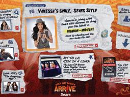 Sears' back-to-school website features Vanessa Hudgens, star of 'High School Musical.'