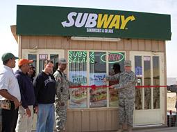 Subway at Camp Ramadi, Iraq