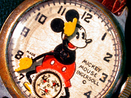 Anadiggies came into conciousness in the antediluvian analog age sporting a Mickey Mouse clock face, and they can't get too much Hanna-Barbera.