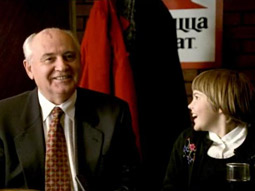 TAKING ADS TO 'THE EDGE': Former Soviet leader Mikhail Gorbachev in a 1997 Pizza Hut spot.